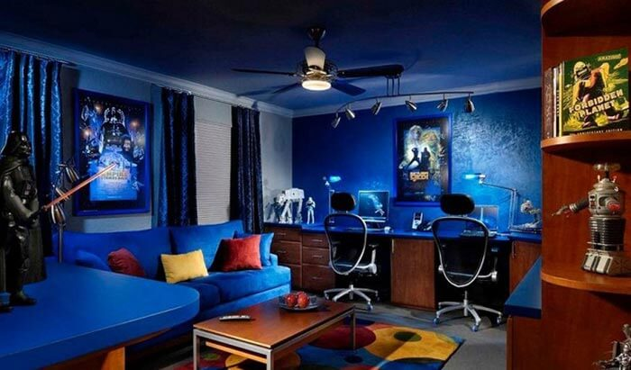 mavi oyun odası