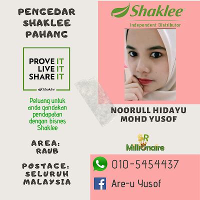 Pengedar Shaklee Raub 0105454437