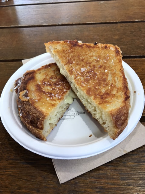 Maker and Monger, South Yarra, cheese toasty