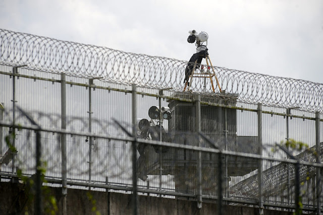 Image Attribute: A video and surveillance security system are seen at the Papantla federal prison, currently under construction, in Papantla, in Veracruz state, Mexico, September 8, 2016. REUTERS/Oscar Martinez