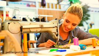 Femme couture, gagner de l'argent avec ses créations, gagner de l'argent en ligne