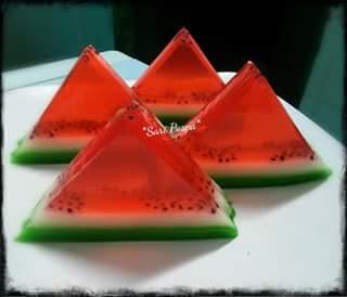 resep pudding semangka