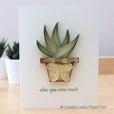 Quilling Succulents Pattern Tutorial - Aloe Vera