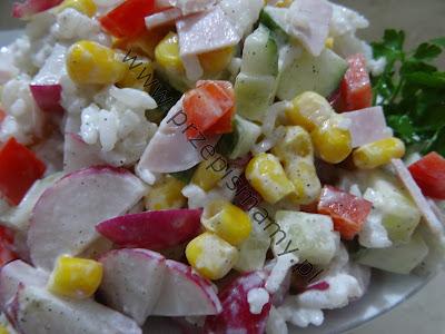 Sałatka wiosenna z ryżem