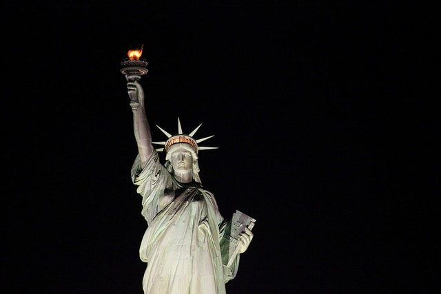 Statue of Liberty in night