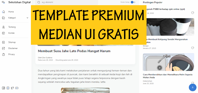 Download Template Median UI Premium Gratis