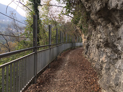 The old canal turned walkway near Clanezzo.
