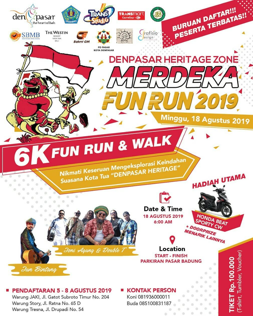Merdeka Fun Run - Denpasar Heritage Zone • 2019