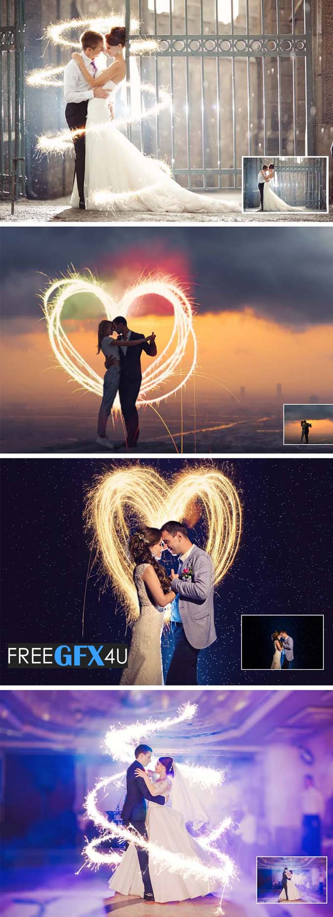 160 Sparklers Photoshop Overlays Pack