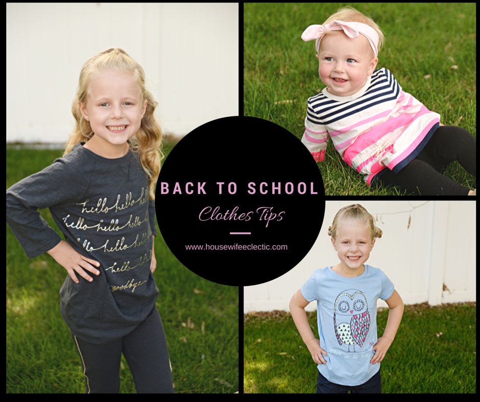 Back To School Clothing Shopping Tips Housewife Eclectic