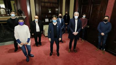 """Kicillof con intendentes: """"Las usurpaciones son ilegales"""". 001"""