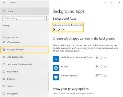Cara Mematikan Background Apps Di Windows 10
