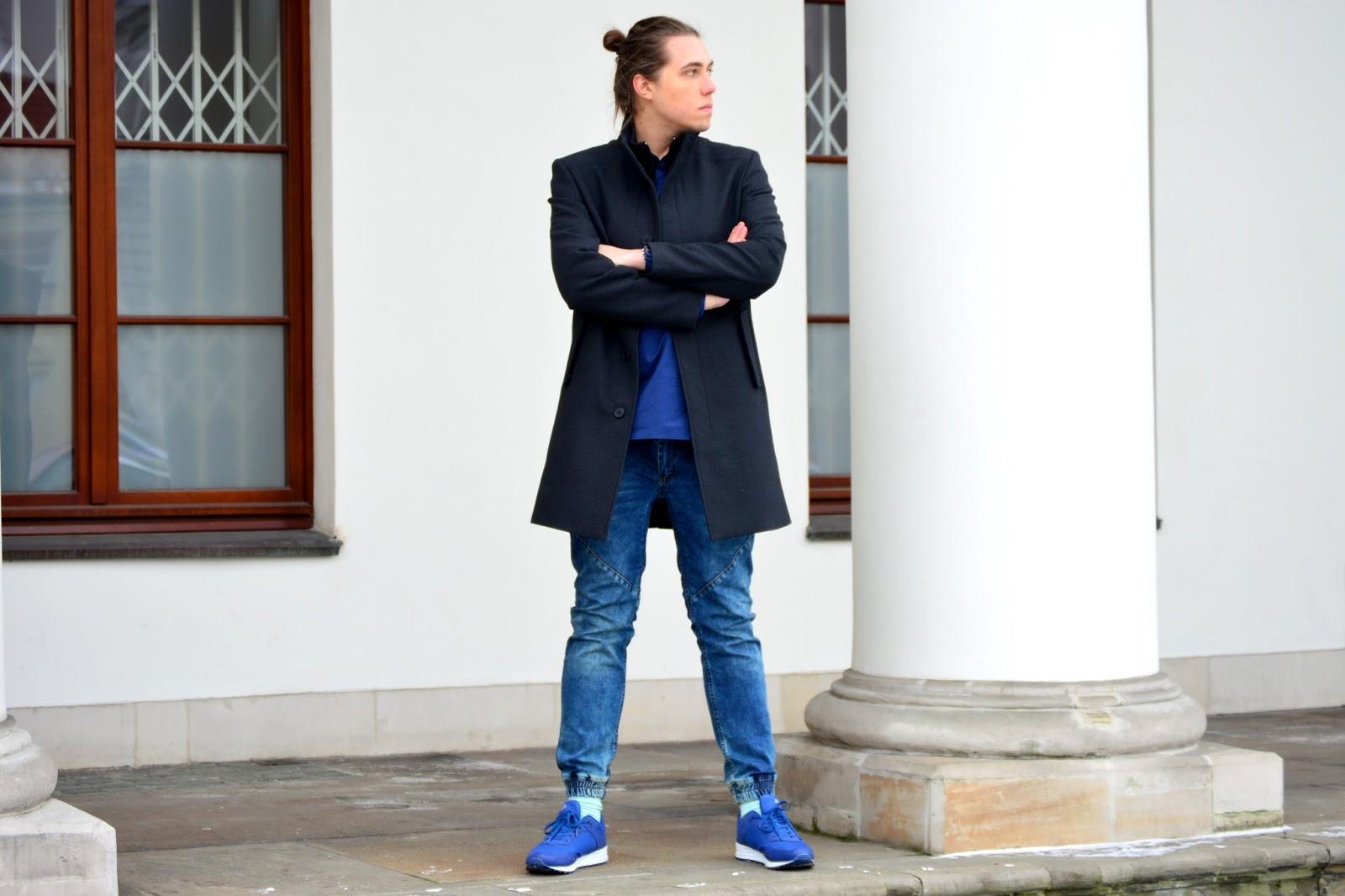 płaszcz zara, buty fila