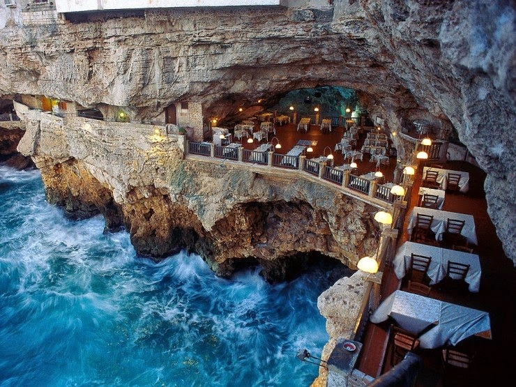 8. Grotta Palazzese, Polignano a Mare, Italy - Top 10 Incredible Beauties Hidden in the Caves
