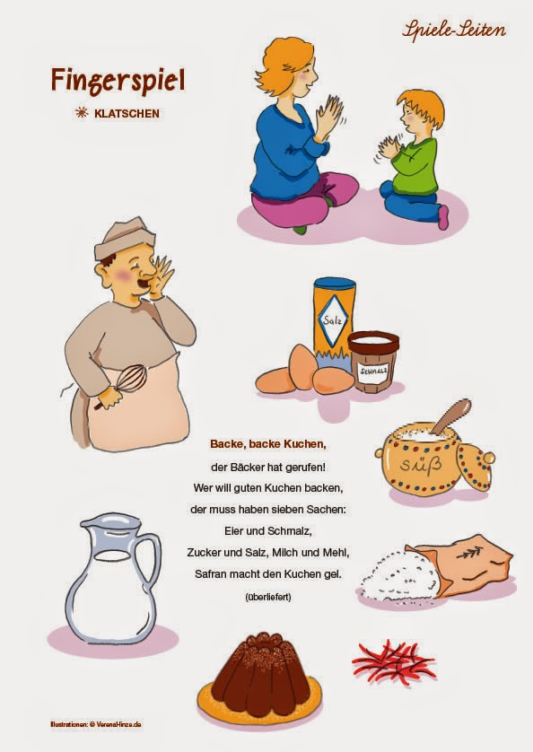Backe Backe Kuchen Kindergebarden Babyzeichensprache