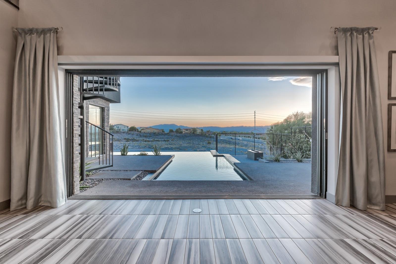 las vegas luxury homes sleek u0026 modern blue heron home for sale