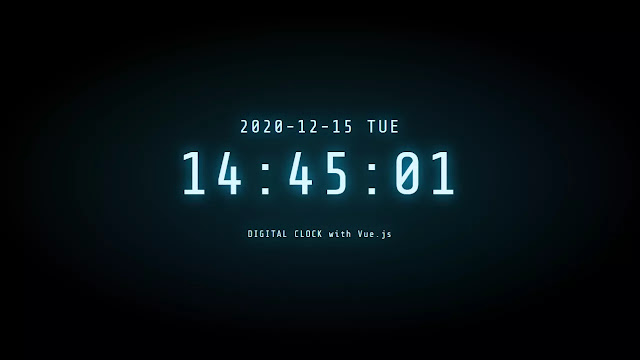 Working Digital Clock with Glowing Effect