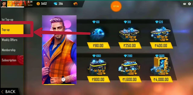 Free fire diamond top up 2020