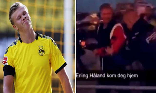 Dortmund star Erling Haaland 'thrown out of night club' on return to Norway