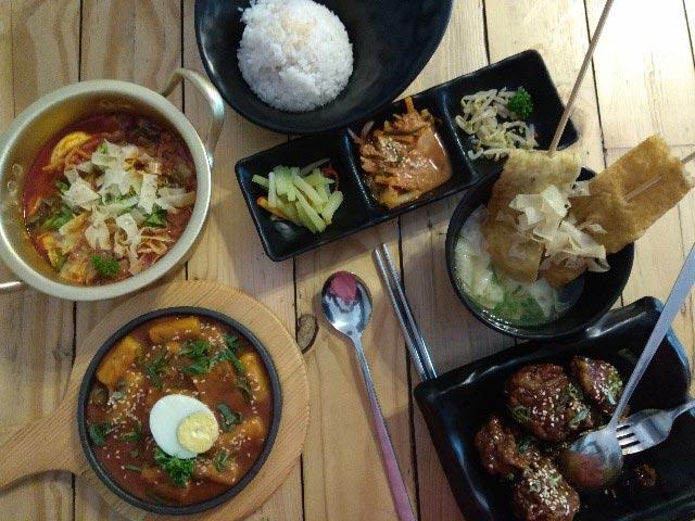 menu makanan korea yang ada di warung daebak bali