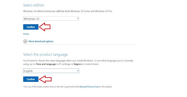 Chọn ngôn ngữ là tiếng anh theo chuẩn từ Microsoft
