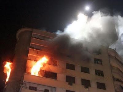تفحم طفلين شقيقين في حريق شقة سكنية بالمحلة