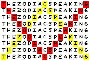 THE ZODIAC SPEANKING