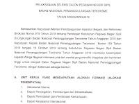 Pelaksanaan CPNS Badan Nasional Penanggulan Terorisme Tahun Anggaran 2019