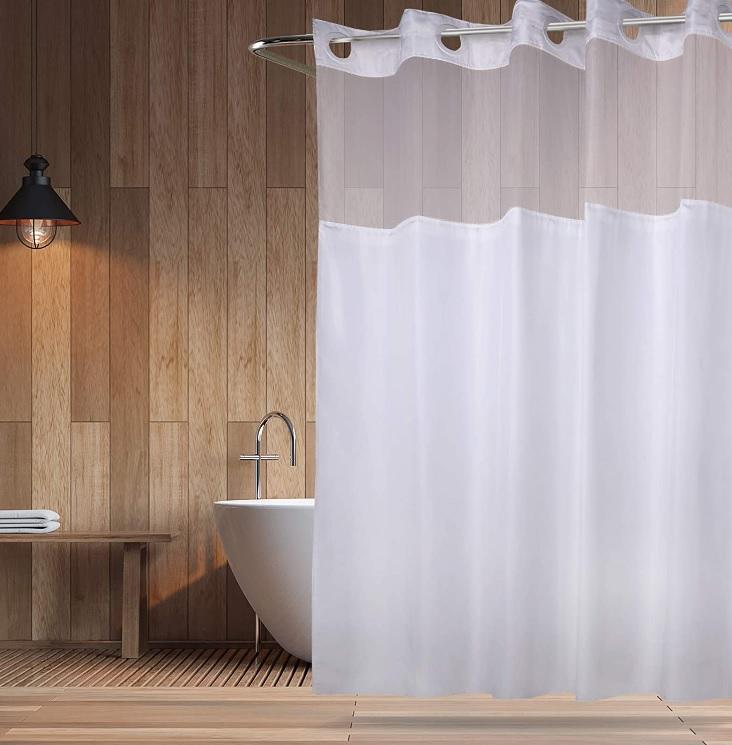 Cortina de baño: 70 ideas inspiradoras para ducha y ventana
