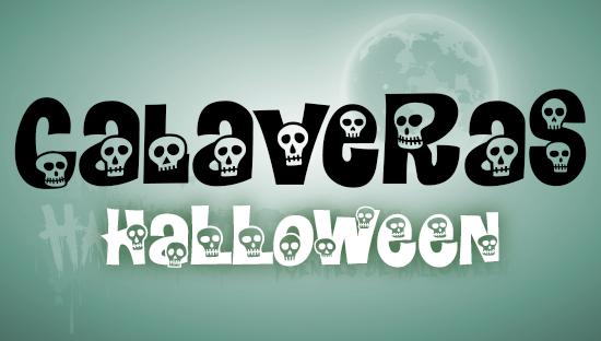 CALAVERAS font Halloween