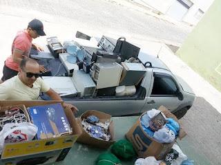 ECOPONTO coleta 600kg de lixo eletrônico em Picuí