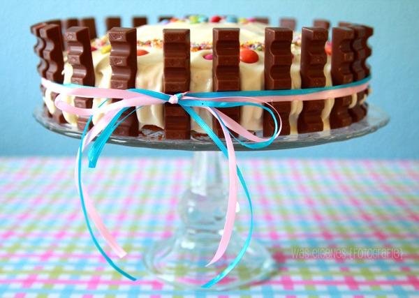 Kinderschokoladen - Smartie Torten Dekoration