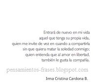 Frases Célebres Entrar En Mi Vida Irma Cristina Cardona