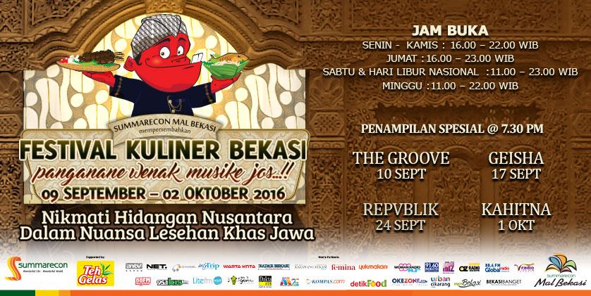Festival Kuliner Mall Sumarecon Bekasi 2016