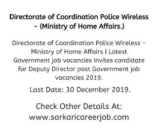 Government job vacancies.