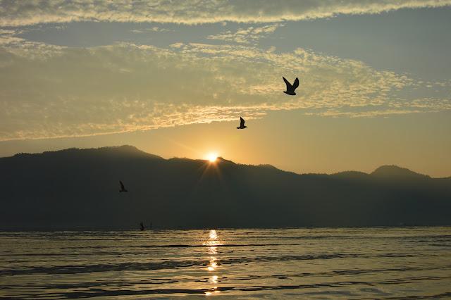 Coucher de soleil sur le Lac Inle