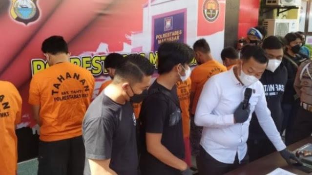 7 Tersangka Penculik dan Penganiaya Driver Maxim Makassar Terancam 12 Tahun Penjara