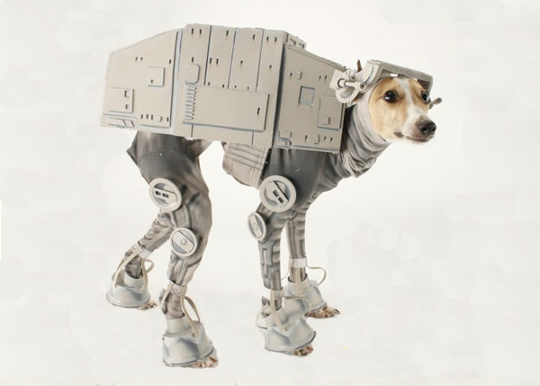 ... Italian greyhound dog. But the comfortableness is subjective and Iu0027m not sure how the dog gonna move? Still the costume design is creative and cool. & Amazing AT-AT Dog Costume | Spicytec