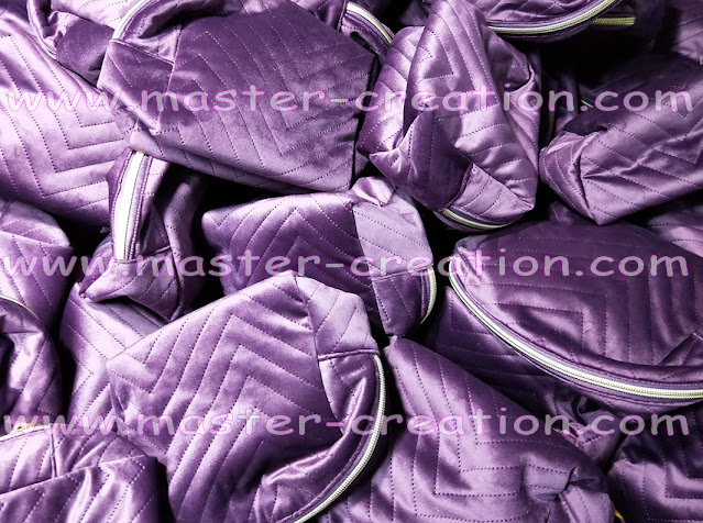 quilted velvet bag