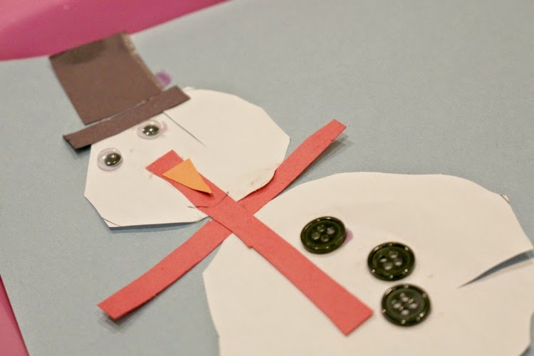 winter cutting activity for preschoolers