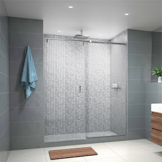 A Hydroslide Shower Door