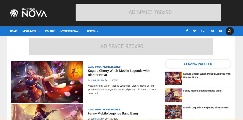 blanter nova free blogger template
