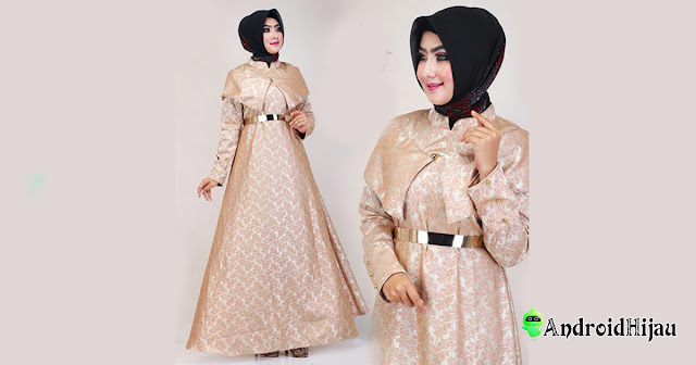 Model cape dress bahan jaguar
