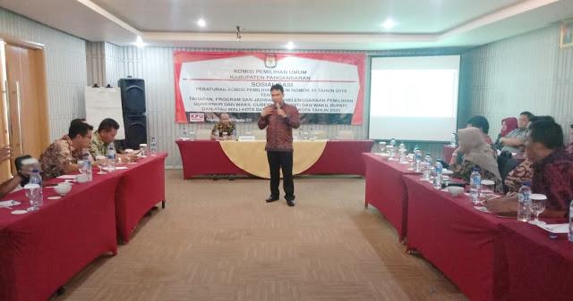 Sosialisasi PKPU Nomor 15/2019 oleh KPU Pangandaran Diduga Pemborosan Anggaran
