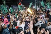 Pasca Gencatan Senjata, Rakyat Gaza Suka Cita Turun Ke Jalan