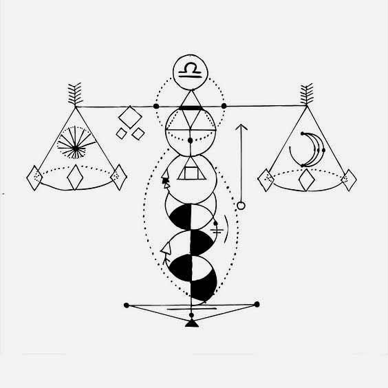 best Libra constellation tattoo images