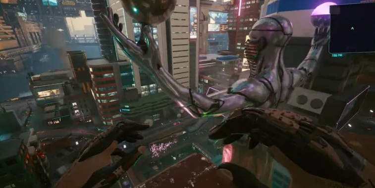 This combination of implants in Cyberpunk 2077 will allow you to fly legally without bugs