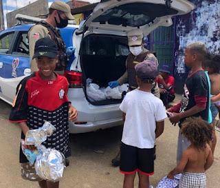 BCS distribui 225 brinquedos em ação de Natal em Vitória da Conquista