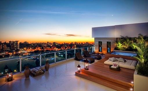 Piscinas en terrazas colores en casa for Piscinas para terrazas