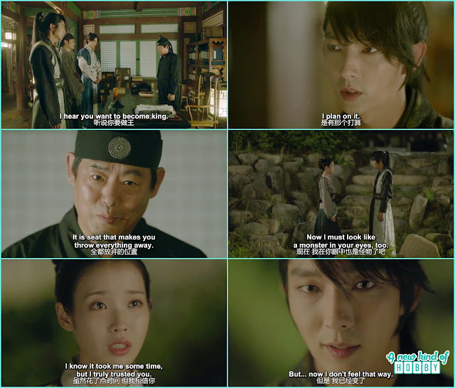 wang so told he wanted to become the king and grand general ask what will you throw for the throne and he throw Hae Soo  - Moon Lovers Scarlet Heart Ryeo - Episode 16 Review (Eng Sub)